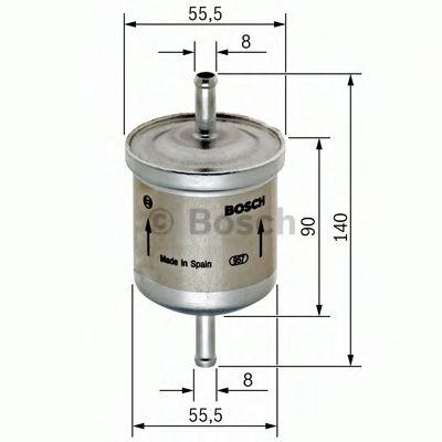 Фильтр топл. бенз. OPEL, SKODA (пр-во Bosch)                                                          арт. 0450905280