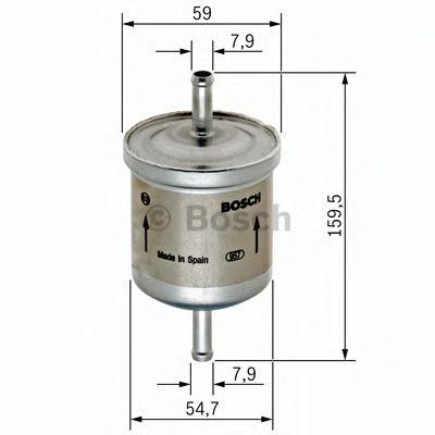 Фильтр топливный DAEWOO LANOS 97-, CHEVROLET LACETTI 05- (пр-во BOSCH)                                арт. 0450905969