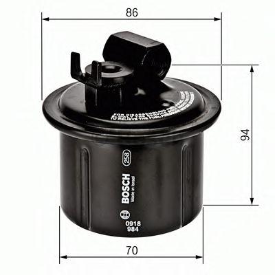 Топливный фильтр  арт. 0986450104