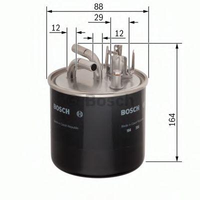 BOSCH ,N0509 H=164mm Фильтр топливный (с подогр.2труб.) 2,5TDI: AUDI A4/6/8 VW Passat SKODA Superb BOSCH 0986450509