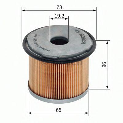BOSCH ,N1720 H=96mm Фильтр топливный диз. RENAULT Master II, Trafic 1,9-2,5DCI 00- BOSCH 1457431720