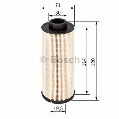 BOSCH ,N1724 H=120mm Фильтр топливный диз. RENAULT 1,9/2,5: Master, Trafic 01- OPEL Movano BOSCH 1457431724
