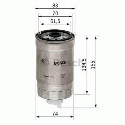 BOSCH ,N4105 H=155mm Фильтр топливный диз. ALFA 1,9 CITROEN Jumper FIAT 1,7-2,5 IVECO 2,8 SCANIA BOSCH 1457434105