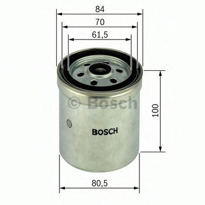 BOSCH ,N4123 H=100mm Фильтр топливный диз. DB W124/202/210/463/Sprinter OM601-606 BOSCH 1457434123