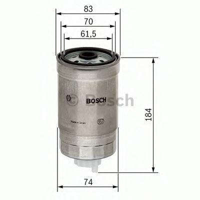 BOSCH ,N4293 H=182mm Фильтр топливный диз. ALFA BMW 1,7-3,9 FIAT 1,9/2,4 LANCIA BOSCH 1457434293