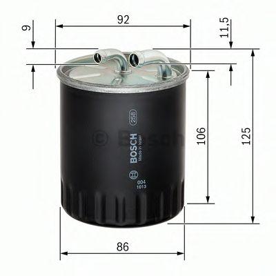 Фільтр палива BOSCH 1457434437