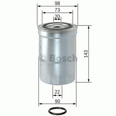 Фільтр палива BOSCH 1457434459