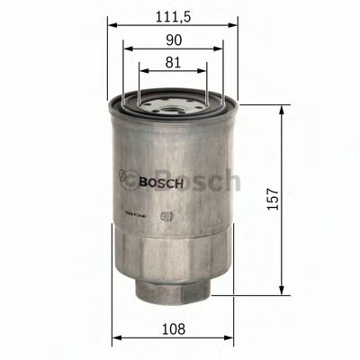 BOSCH  VOLVO Фильтр топливный FH 12 93- BOSCH F026402025