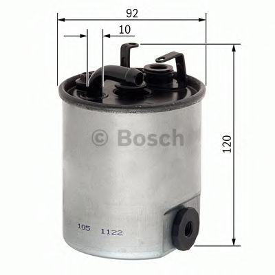Фільтр палива BOSCH F026402044