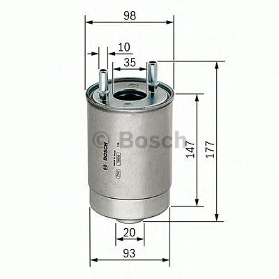 Фільтр палива BOSCH F026402067