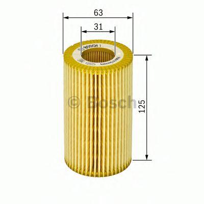 Фильтр масляный двигателя VOLVO CARS 2.0, 2.4 08- (пр-во BOSCH)