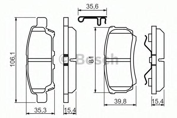 Тормозные колодки дисковые, к-кт.  арт. 0986494502