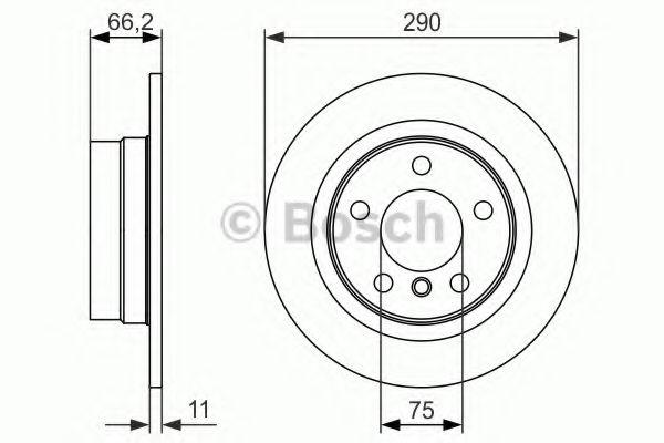 Тормозной диск  арт. 0986479043