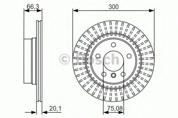 Тормозной диск  арт. 0986479044