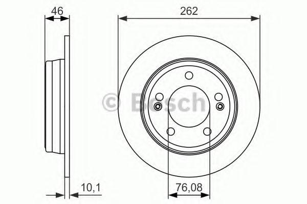 Тормозной диск  арт. 0986479052