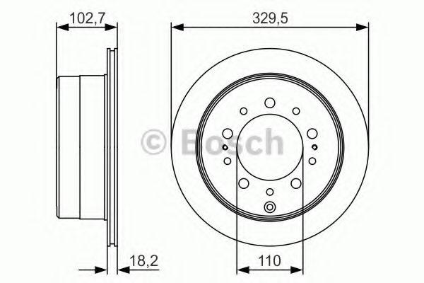 Тормозной диск Bosch BOSCH 0986479R15