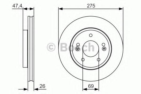 Тормозной диск Bosch BOSCH 0986479R26