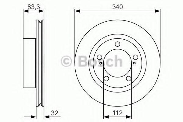 Тормозной диск Bosch BOSCH 0986479R29