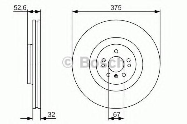 Тормозной диск Bosch BOSCH 0986479R31