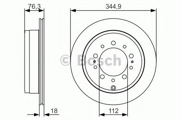 Тормозной диск Bosch BOSCH 0986479R32