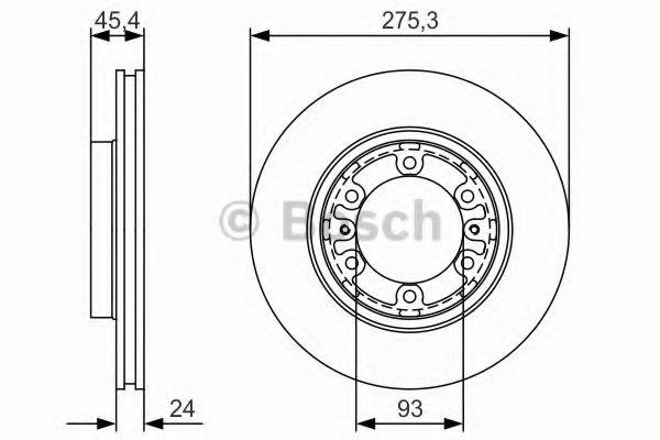 Тормозной диск передний  арт. 0986479R40