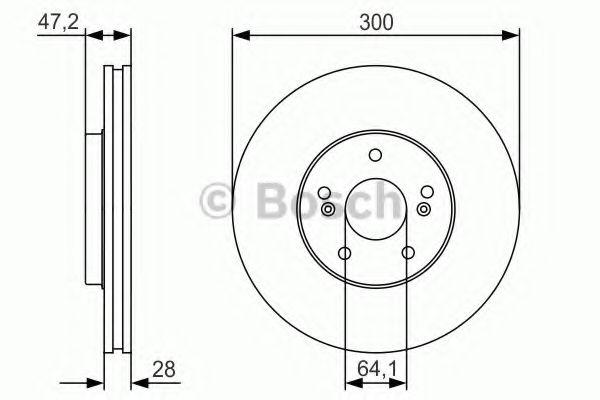 Тормозной диск передний  арт. 0986479R47