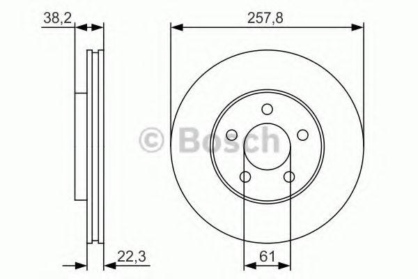 BOSCH CHRYSLER Тормозной диск передн.Neon 94- BOSCH 0986479R56