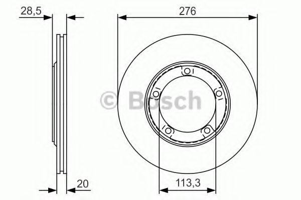 Тормозной диск передний  арт. 0986479R59