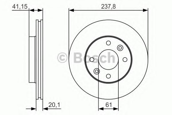 Тормозной диск Bosch BOSCH 0986479R66