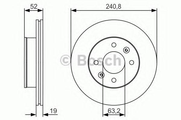 Тормозной диск передний  арт. 0986479R71
