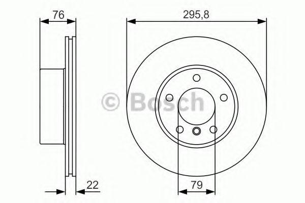 Тормозной диск Bosch BOSCH 0986479R72