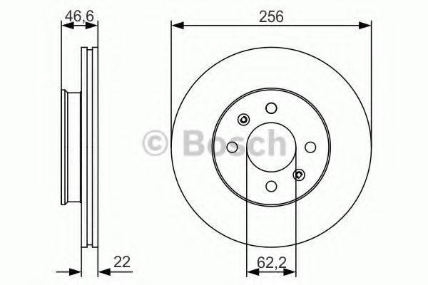 Тормозной диск Bosch  арт. 0986479R77