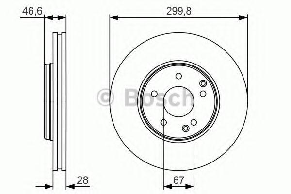 Тормозной диск Bosch BOSCH 0986479R79