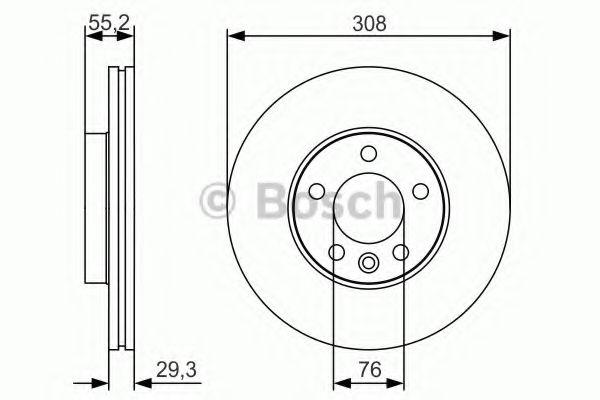 Тормозной диск Bosch BOSCH 0986479R84