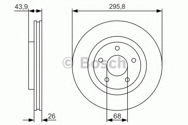 Тормозной диск Bosch BOSCH 0986479R89