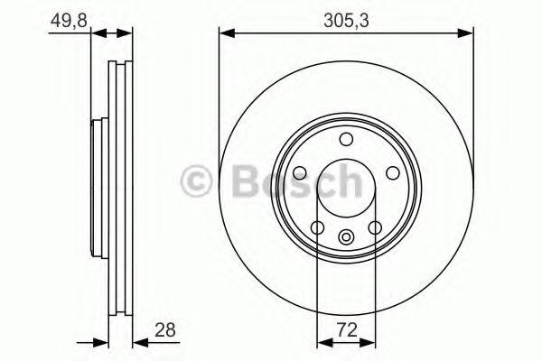 Тормозной диск Bosch BOSCH 0986479R93