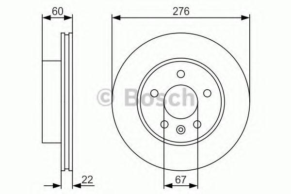 Тормозной диск Bosch BOSCH 0986479R95