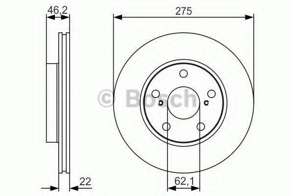 Тормозной диск передний TOYOTA Auris 07- BOSCH 0986479R97