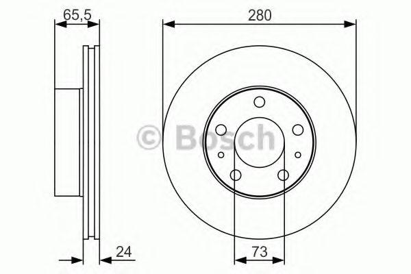 Тормозной диск Bosch BOSCH 0986479R98