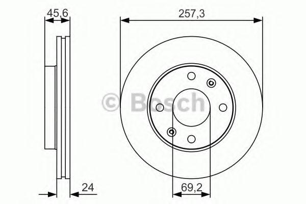Тормозной диск Bosch  арт. 0986479S03
