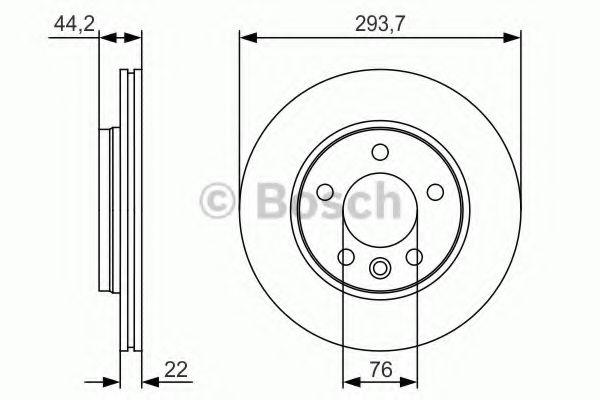 Тормозной диск Bosch BOSCH 0986479S06