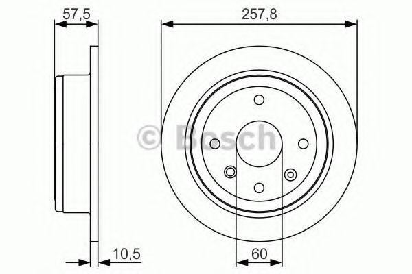 Тормозной диск Bosch Lacetti  арт. 0986479S08