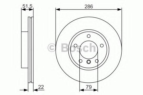 Тормозной диск передний BMW E36/46 1,6-2,8  арт. 0986479S10