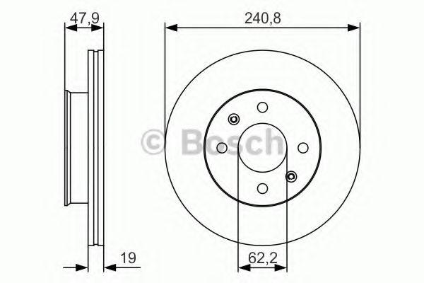Тормозной диск Bosch  арт. 0986479S18