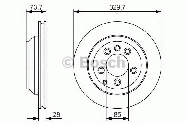 Тормозной диск Bosch BOSCH 0986479S20