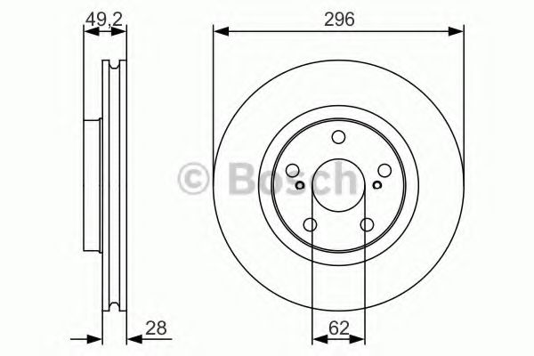 0986479R33 Тормозной диск Bosch BOSCH 0986479S22