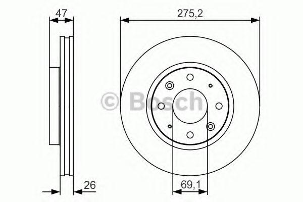 Тормозной диск Bosch BOSCH 0986479S28