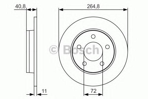 Тормозной диск Bosch BOSCH 0986479S50