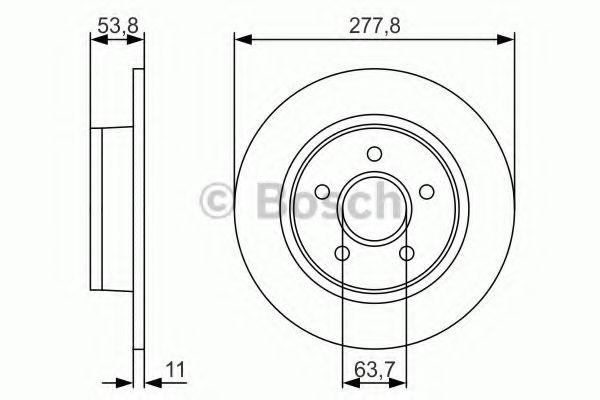 Тормозной диск Bosch  арт. 0986479S51
