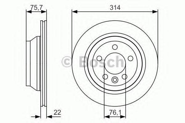 BOSCH  Тормозной диск задн. VW Transporter T5, Touareg (teves) BOSCH 0986479S54